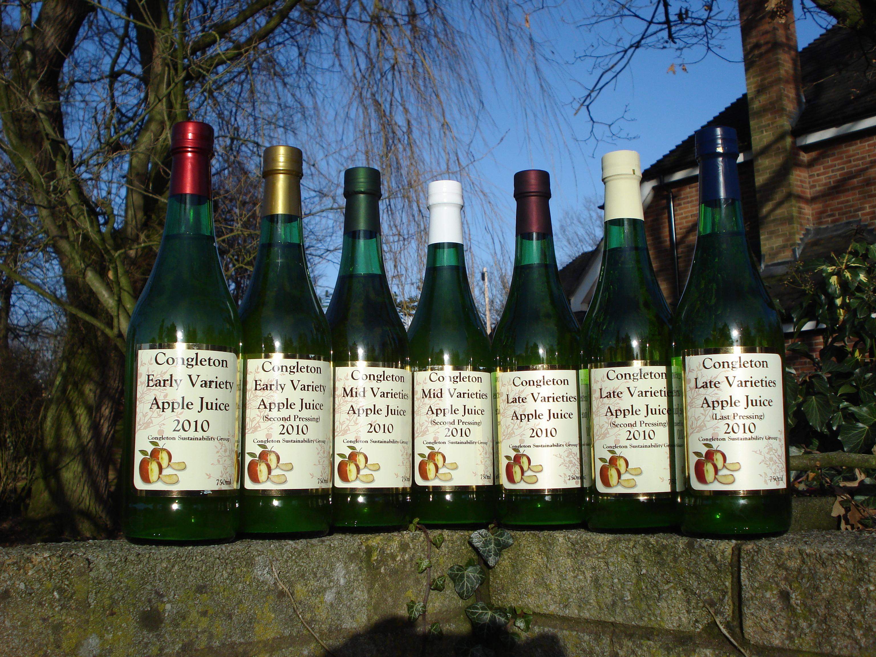 Congleton apple juice is born, the first bottles.