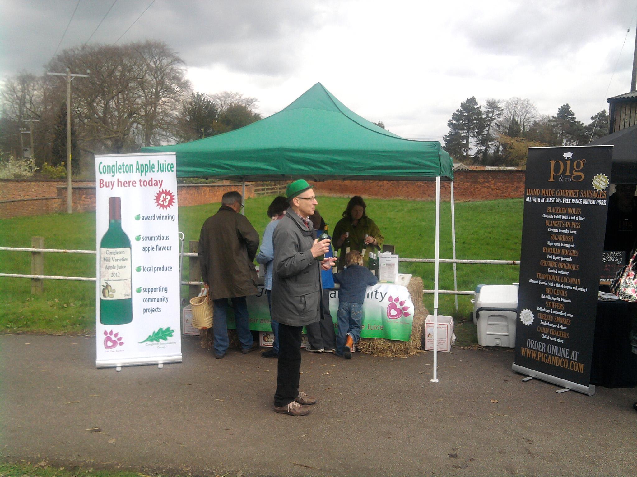Rode Hall 2012 Selling Apple Juice