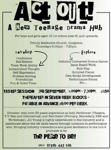 Act Out! New Teenage Drama Group for Congleton - Congleton