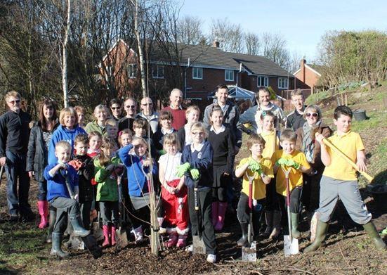 Congleton Apple tree planting