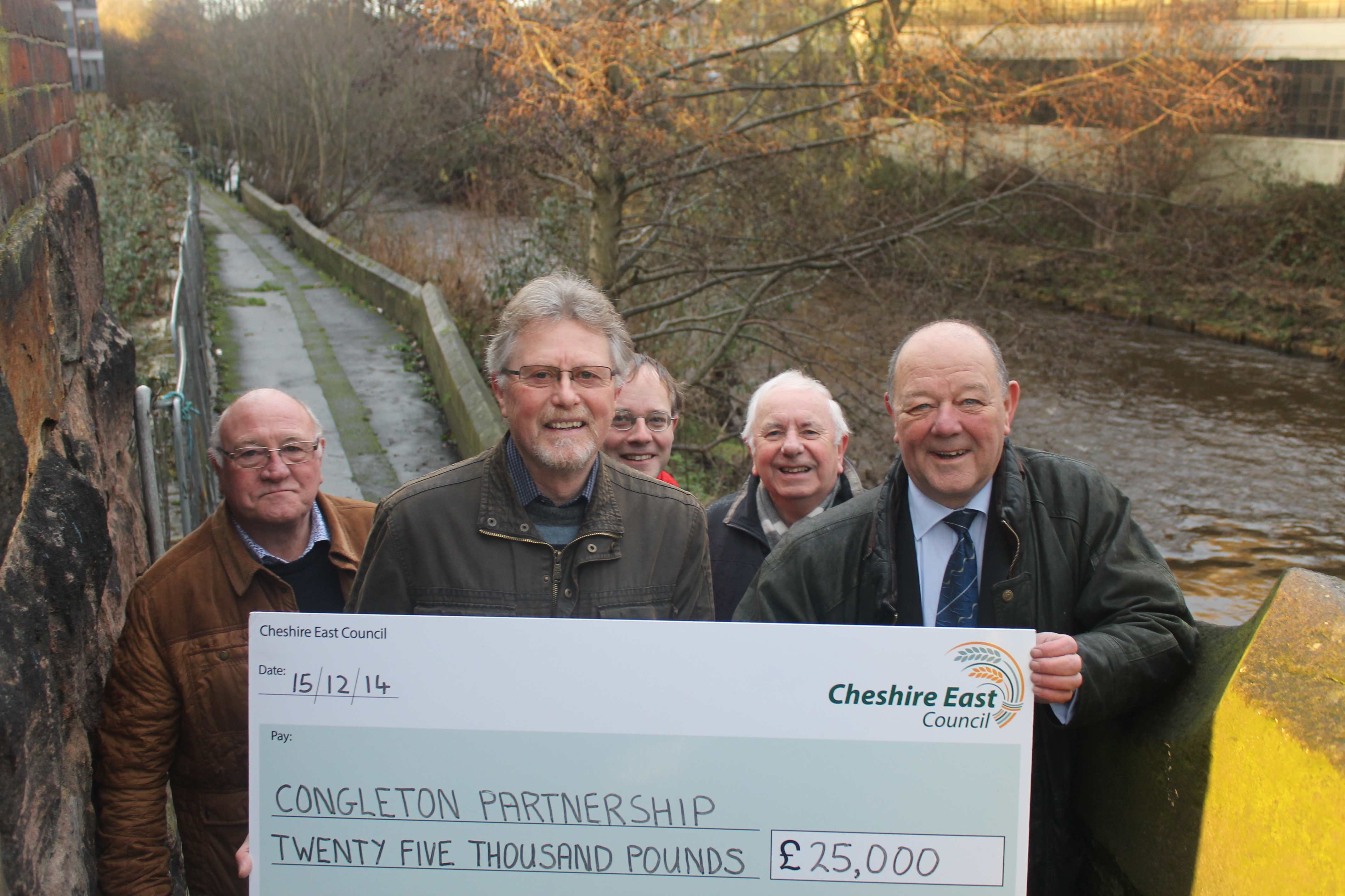 Cheshire East has made a very welcome contribution of £25,000 towards the cost of the project
