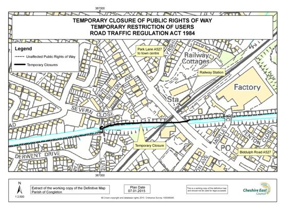 Canal towpath closure 16th March 2015
