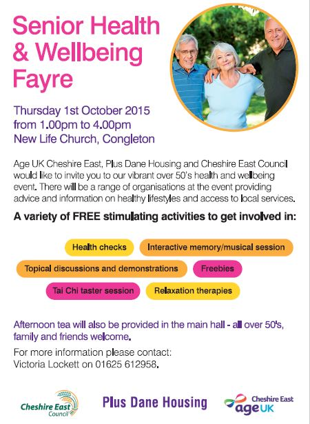 senior health and well-being fayre Congleotn