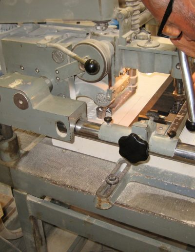 Cutting the stone for Congleton Centopath