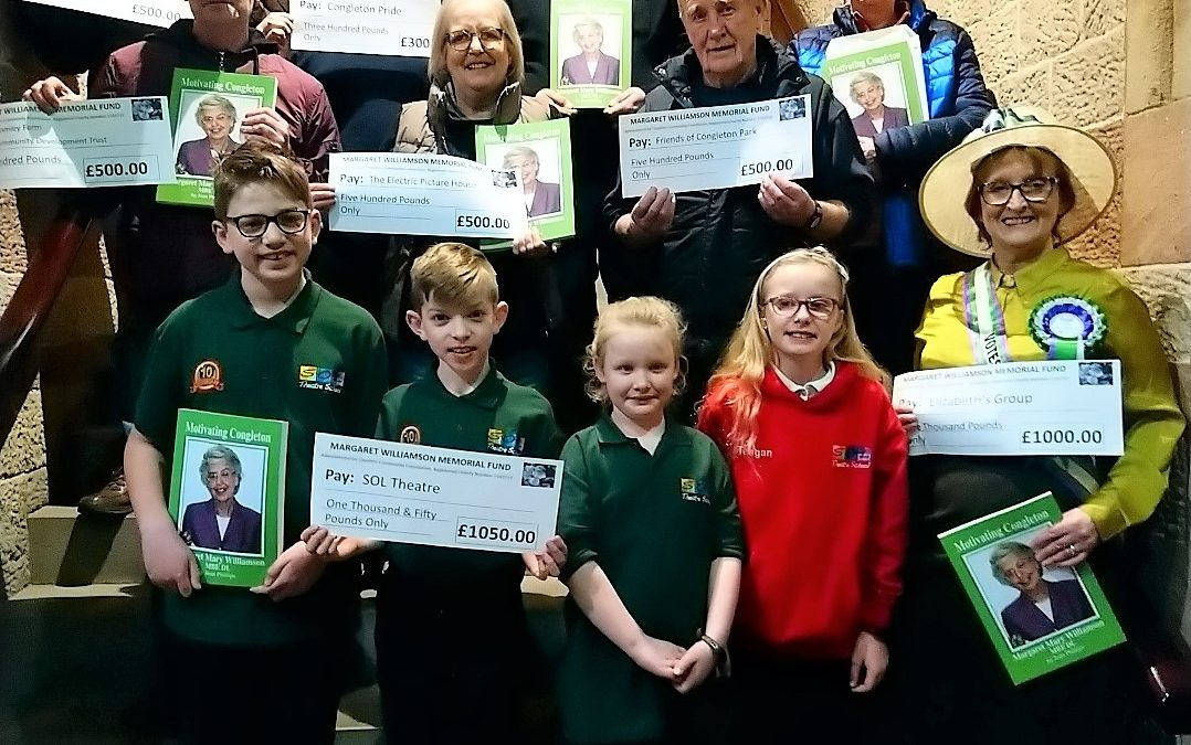 LOCAL GROUPS RECEIVE ALMOST £5,000 FROM THE MARGARET WILLIAMSON TRUST