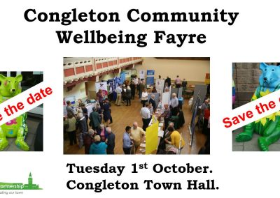 Congleton Community Wellbeing Fayre - save the date