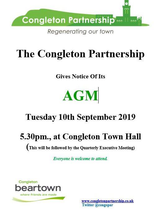 Congleton Partnership AGM Notice 2019