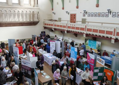 Wellbeing Fayre exhibitor hall
