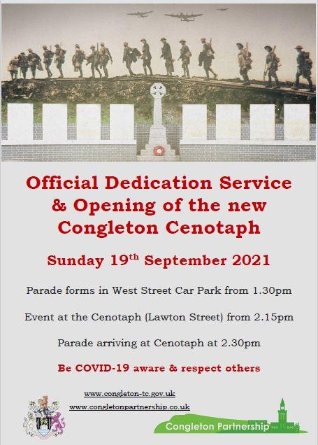 Opening of Congleton Cenotaph